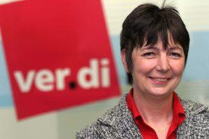 ver.di-Landesleiterin Gabriele Schmidt