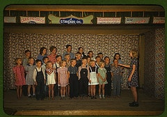 School children singing, Pie Town, New Mexico ...