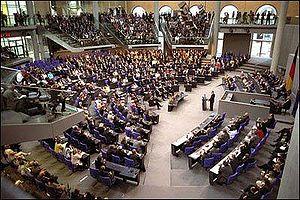 The Bundestag in Berlin.
