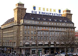 Handelshof hotel with modified coat of arms an...