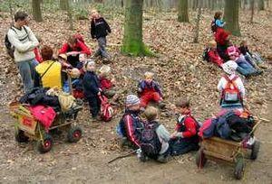 Kleine Pause im Waldkindergarten Duesseldorf {...