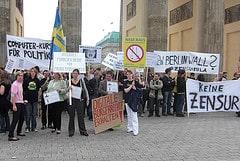 Protest gegen Internetsperren
