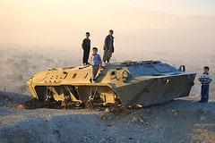 Kids on tank, Kabul