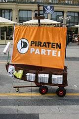 """""""Piratenpartei"""" boat"""