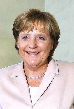 Angela Merkel, chancellor of Germany.