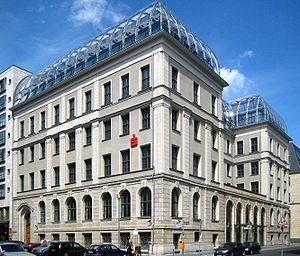Former building of Berliner Bank at Behrenstra...