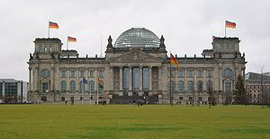 {{de|The Reichstag in Berlin, Germany.