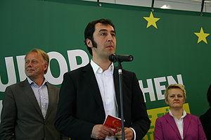Cem Özdemir bei einer Veranstaltung von Bündni...