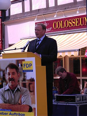 Dirk Niebel, secretary general of the FDP (lib...