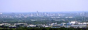 """View over the center of Essen from the """"T..."""