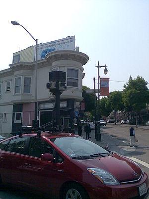 A Google Street View Car