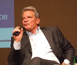 Founding signatory Joachim Gauck, former Feder...
