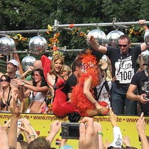 Picture of the loveparade in Essen
