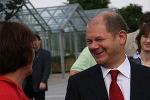 Olaf Scholz bei einer Wahlkampfveranstaltung d...