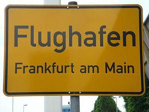 Sign indicating the Frankfurt-Flughafen district
