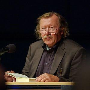 German philosopher Peter Sloterdijk reading fr...