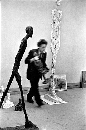 Photograph of Alberto Giacometti by Henri Cart...
