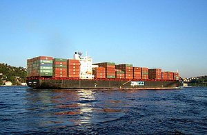 ZIM Container ship in Istanbul