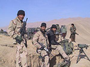 American Special Forces. Vigil (left) with mem...