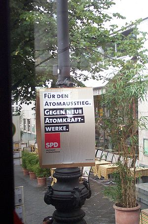 Election placard in Berlin of the Social Democ...