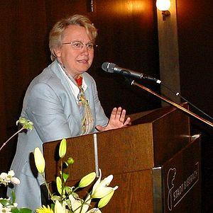Dr. Annette Schavan auf einer Wahlkampfveranst...