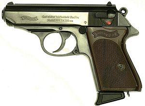 Walther PPK, caliber .32 ACP (7.65 mm). Manufa...