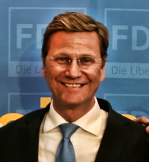 Guido Westerwelle bei Europawahl 2009-Veransta...