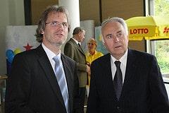 Ministerpräsident Böhmer zu Besuch im Ministerium