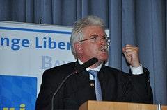 Staatsminister Martin Zeil auf dem Landeskongr...