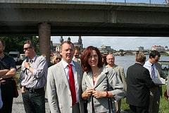 Kerstin Kaiser und Bodo Ramelow in Dresden