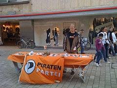 Piratenpartei Infostand Fürth