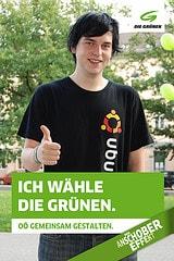Wir wählen die Grünen