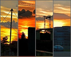 Sunset in Duisburg