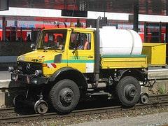 LKW auf Schienen / motor truck on track