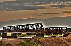 Eisenbahnbrücke Duisburg Hochfeld nach Rheinhausen