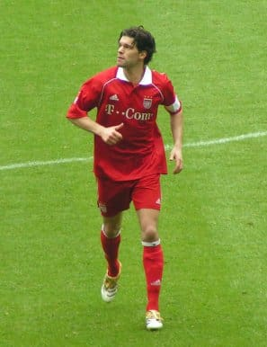 Michael Ballack during a game against Arminia ...