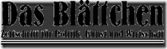 Das Blättchen - Logo