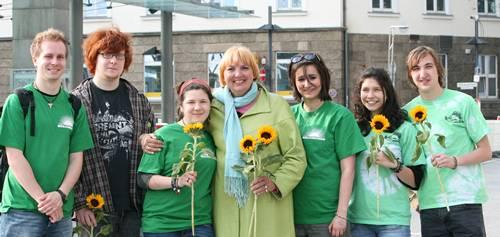 Claudia Roth bei den Jungen Grünen Hamm