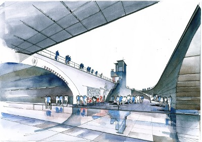 Der historische Ort der Loveparade Katastrophe in der Vision des Bielefelder Architekts Alexander Ahlert.