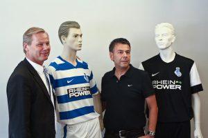 MSV Geschäftsführer Roland Kentsch und Michael Bröhl von Nike Fußball/ Teamsport