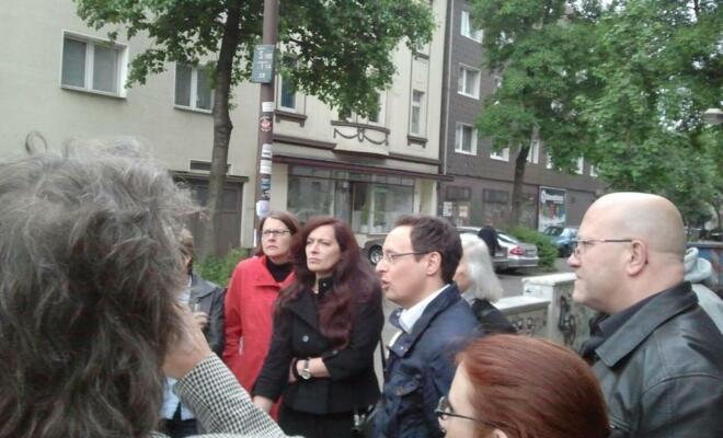 Unterlegener Basiskandidat Michael Rubinstein vor der Heimat Hochfeld. mupflpic