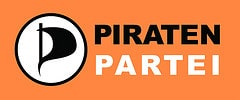 Piratenpartei-Logo auf Orange