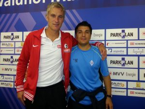 Waldhof-Coach Kenan Kocak & SC-Coach Xaver Zembrod (Foto: Dustin Paczulla)