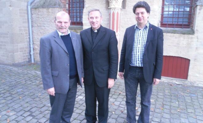 Bild : Michael Rittberger (DGB),Weihbischof Wilfried Theising, Mark Rosendahl (DGB)