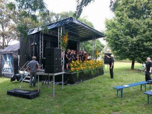 Kleine Bühne: Generalprobe zur Gedenkfeier an die Loveparade