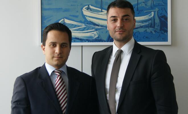 Mahmut Özdemir (MdB), Aytekin Ünal (Wirtschaftsjunior aus Duisburg)