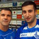 Giorgi Chanturia mit Trainer Gino Lettieri. Foto: MSV Duisburg