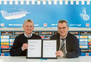 Vertragsunterzeichnung Förderung MSV Duisburg Jugendabteilung