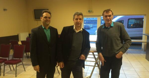 v.l. DGB-Regionssekretär Thomas Ziegler, SPD-Vorsitzender Ralph-Harry Klaer, DGB-Vorsitzender Ralf Köpke
