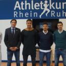 Mannschaftsarzt Dr. Falk Ullerich, Sportdirektor Ivo Grlic, Seny Timothy Dieng, Baris Özbek, Chef-Trainer Ilia Gruev, Teamarzt Dr. Christian Schoepp (Foto: MSV Duisburg